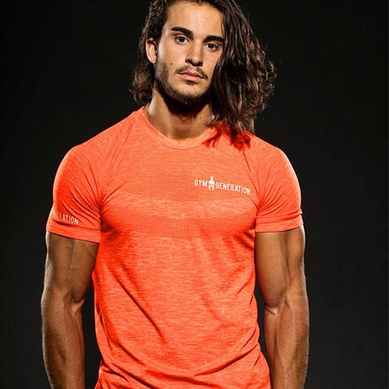 2019 Short Sleeve Sport Shirt  Men's Running T-shirts Gym Clothing Fitness Top Mens Soccer Jersey
