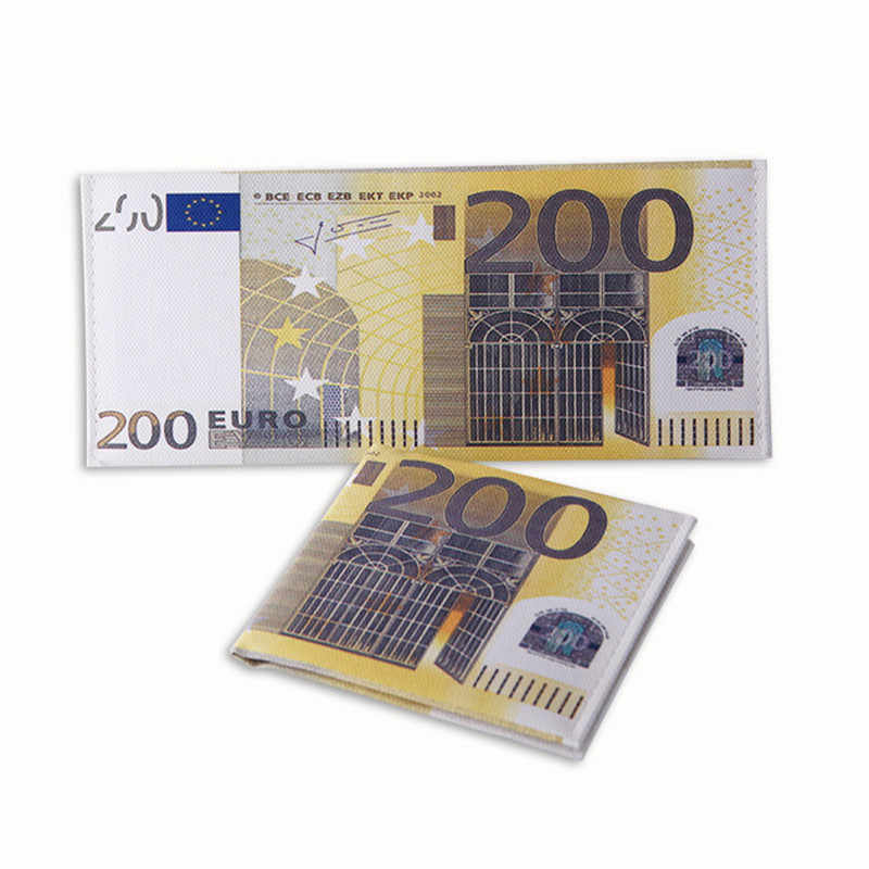 Nowy wysokiej jakości nowość Unisex wzór waluty funt dolar Euro torebka portfele męskie kieszeń Slim pieniądze klipy Carteira Feminina