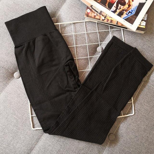 Leggings de sport extensibles taille haute Leggings de sport sans couture requin vêtements de sport de course femmes pantalons de Fitness pantalons de Yoga femmes