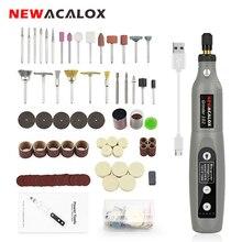 NEWACALOX Sạc USB Tốc Độ Biến Đổi Mini Máy Xay Máy Dụng Cụ Quay Bộ Bộ Máy Mài Với 126 Chiếc Khắc Bộ Phụ Kiện