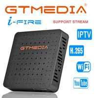 Gtmedia ifire caixa de iptv conjunto digital caixa superior tv decodificador completo hd 1080 p (h.265) módulo wi-fi embutido suporte iptv espanha de it reino unido m3u