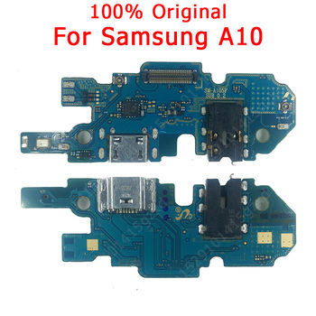 Original Flex Board For Samsung A10 charging port For A 10 Charger Board USB plug PCB Dock Connector Spare parts Mobile Phone Flex Cables Cellphones & Telecommunications -