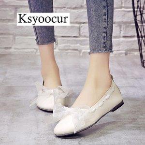 Image 1 - ブランド Ksyoocur 2020 新レディースフラットシューズカジュアル女性の靴の快適なフラットシューズ春/夏の女性の靴 x06