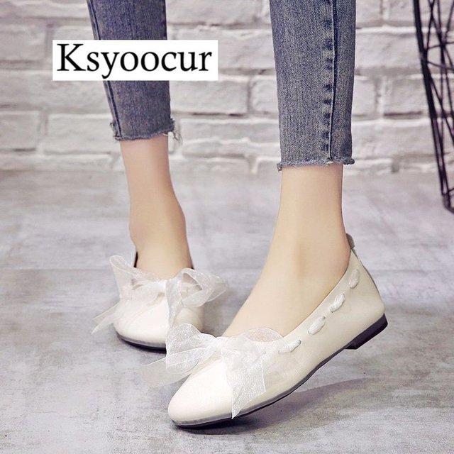 ブランド Ksyoocur 2020 新レディースフラットシューズカジュアル女性の靴の快適なフラットシューズ春/夏の女性の靴 x06