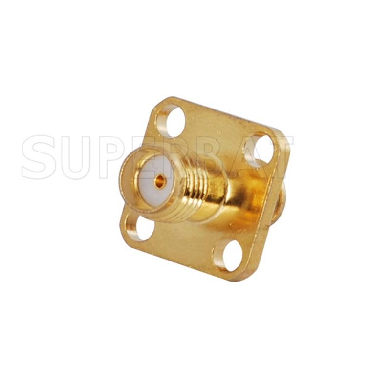 Superbat SMA Adapter SMA Jack to Female Panel Mount Short Version Connector