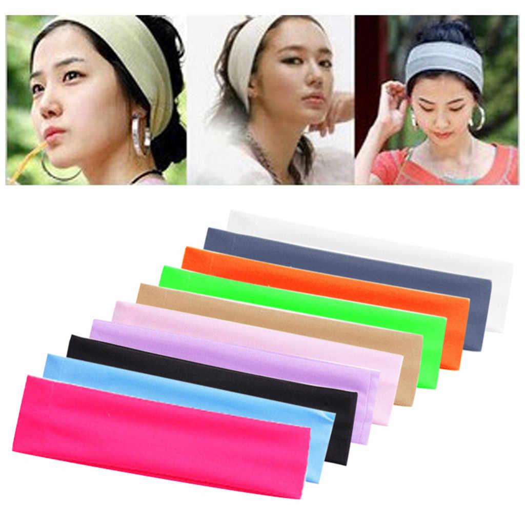 Wanita Yoga Sorban Elastis Rambut Band Headband Olahraga Bando Renda Elastis Olahraga Ikat Kepala Unisex Pita Penahan Keringat Olahraga Z0920