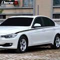 Автомобильный Стайлинг M Performance, боковые полосы, черный, серебристый цвет, виниловые наклейки, боковая юбка, наклейки, комплект для BMW F30 F31, 3 с...