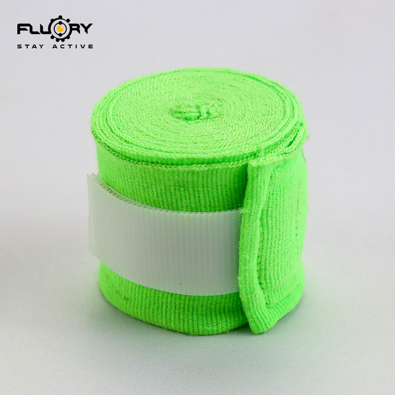 Fluory Fire Barrier Boxing Bandages Sports Muay Thai Sanda Boxing Bandage Fluorescence Green Pink Fighting Training Hand Strap