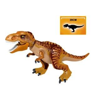 Image 5 - ジュラ紀世界恐竜フィギュアレンガティラノサウルスindominus rex i rex組み立てるビルディングブロック子供のおもちゃdinosuar
