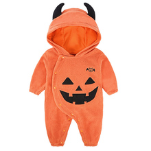 AmzBarley Baby Boy Cotton Rompers Newborn winter clothes Halloween costume with hat wing infant pumpkin Long sleeves clothing
