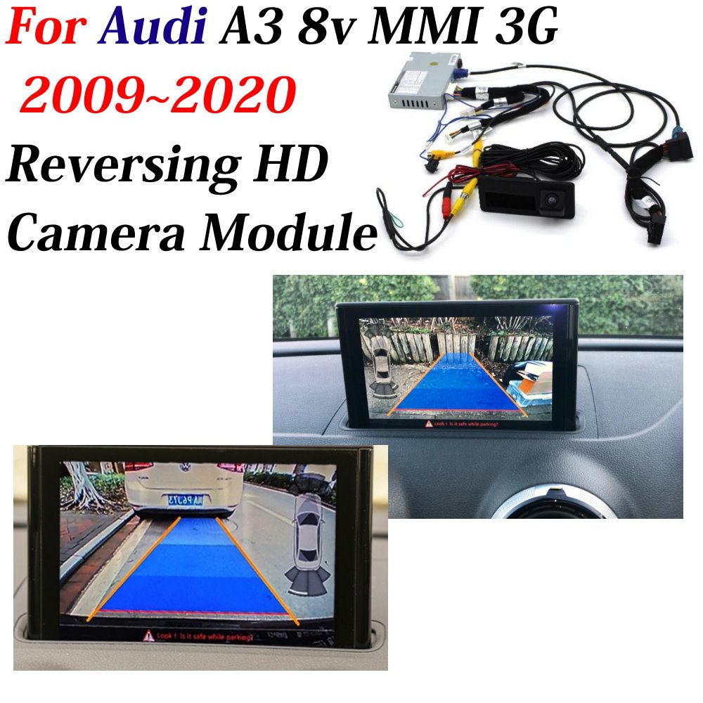 AUTO CAM Interface Adapter Decoder For Audi A3 8V MMI 3G 2009~2019 Car Reversing Camera Backup Parking Front Rear Camera Display