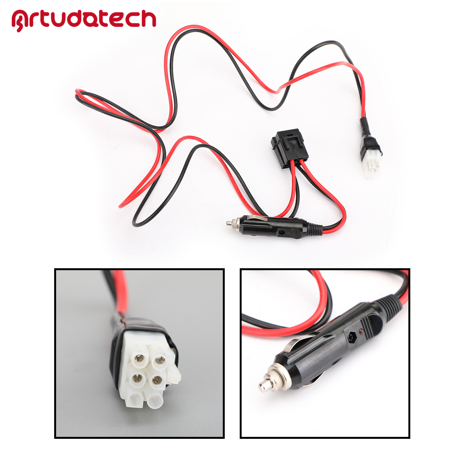 Artudatech Short-Wave Power Cable With / Without Cigarette For FT-857D FT-897D ICOM IC-725A IC-78 IC-706 IC78 IC706 IC725A