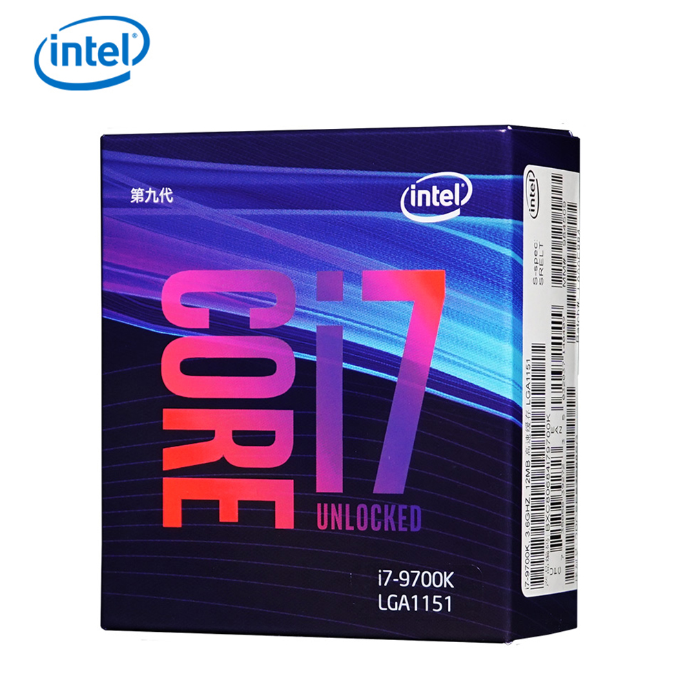 Original Intel Core i7-9700K Desktop Processor 8 Cores up to 3.6 GHz Turbo Unlocked LGA1151 300 Series 95W desktop cpu