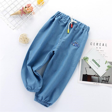 Newborn Baby Jeans Pants Embroidery Thin Spring Elastic Waist Kids Jeans Boys Pants Clothes Cartoon Baby Clothing cheap Cindy YoYo CN(Origin) Summer Baby Boys 7-12m 13-24m 25-36m Straight HHKZ11 Full Length Polyester Acetate Acrylic Casual