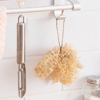 5Pcs/Set Natural Loofah Sponge Kitchen Cleaning Brush Dish Scrubber Washing Tool 1