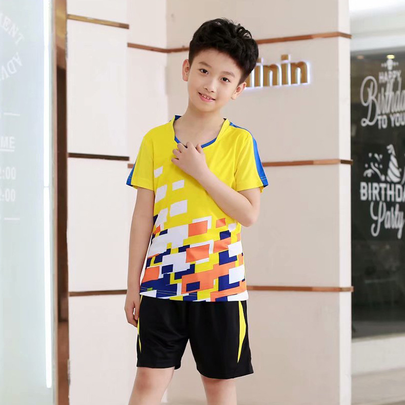 Table-Tennis-Wear Sports-Jersey Custom Training Short-Sleeved Lettered Unifo Wholesale