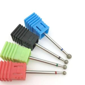 Image 1 - 4 Type Round Diamond Nail Drill Bits Rotary Drill For Manicure Electric Machine Accessories Nail Files Cutter Tools