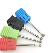 4 סוג עגול יהלומי נייל מקדחי רוטרי תרגיל מניקור חשמלי מכונת אביזרי נייל קבצי חותך כלים