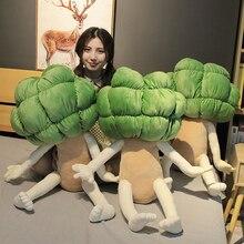 90 cm grande brócolis vegetal brinquedo de pelúcia travesseiro criativo brinquedo engraçado presente aniversário das crianças menino e menina brinquedo