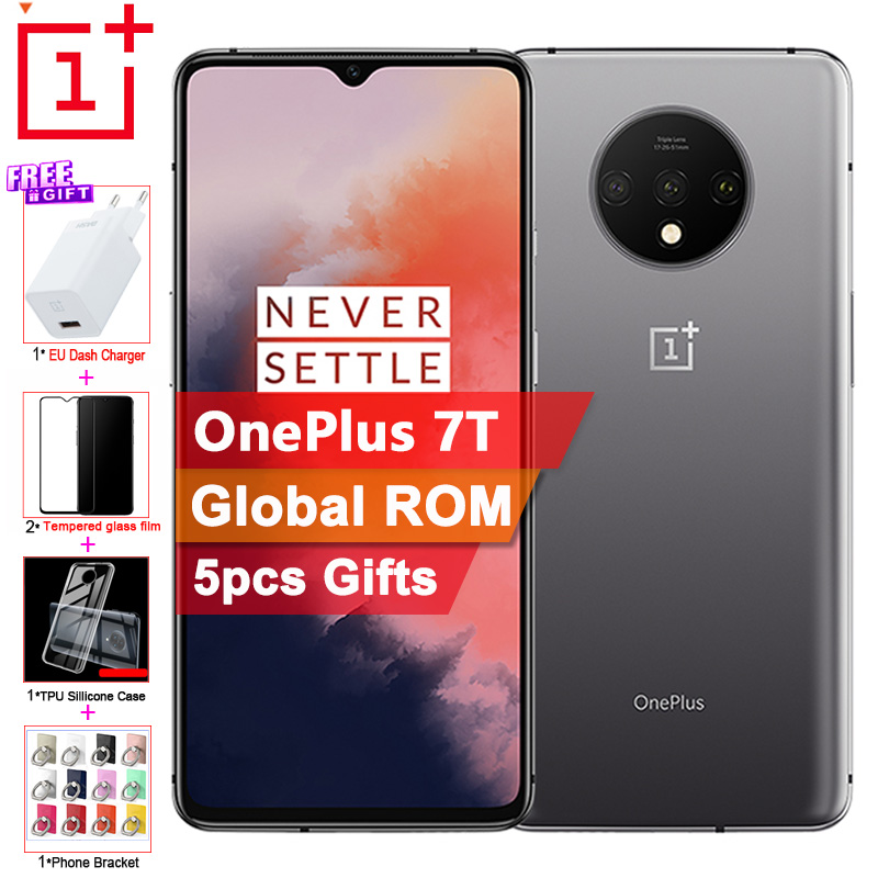 """Global ROM Original OnePlus 7T Mobile Phone 8G 256G 6.55"""" 90GHz Snapdragon 855 Plus 48MP 2X ZOOM Cameras NFC Cell Phone"""