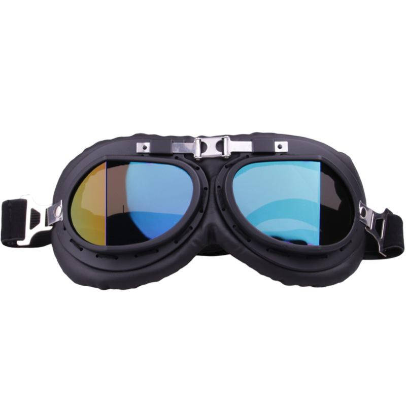 HiMISS Unique Vintage Motorcycle Goggle Motocross Pilot Riding Goggles for Outdoor