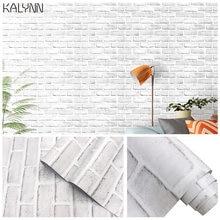 Самоклеящаяся настенная бумага из белого кирпича для гостиной