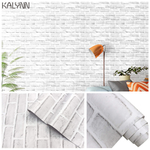 """White Brick Self Adhesive Wallpaper For Living Room Bedroom Kitchen Kids Room Decor Mural17.7""""x19.7ft Contact Paper Wall sticker"""