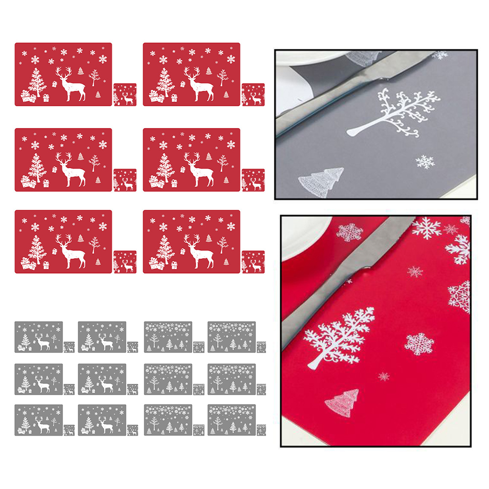 6 Sets of Matching Christmas Placemats and Coasters 1