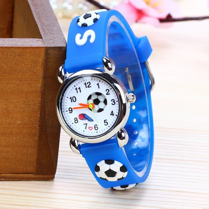 2019 Free Shipping Little Boys Football Whistle Dial Outdoor Sports Watch Waterproof Children Soft Silicone  Gift Wristwatch
