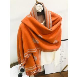 Freeshipping 2020 Women Warmer Winter Cashmere Scarf Pashmina Shawls Female Thick Blanket Wraps Foulard Scarves Bandana Hijab