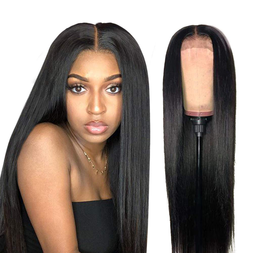 Long Straight 13X4 Lace Front  Wig 30 32 Inches Pre Plucked 13x4 Lace Closure Wigs    3