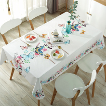 Table-Cloth Rectangle Round Plastic Waterproof Printe Home-Decor New PVC