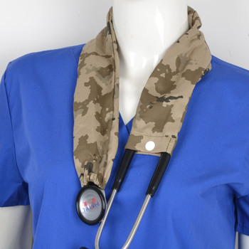 Medical stethoscope cover cotton material in red фото