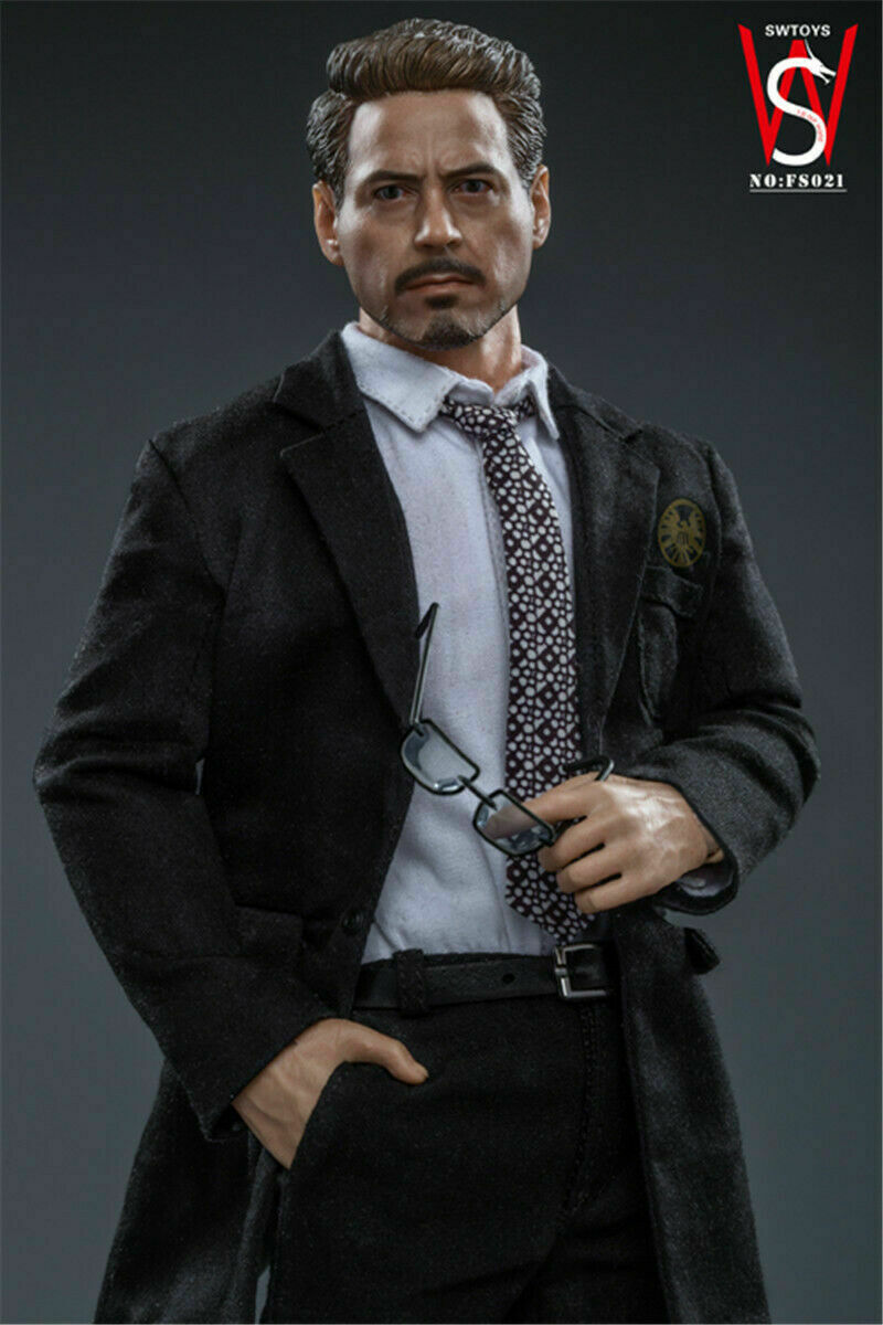 SWtoys 1/6 Tony Stark Action Figure Ironman Male Head Body Clothes FS021 Collection Model Doll Toy Gift
