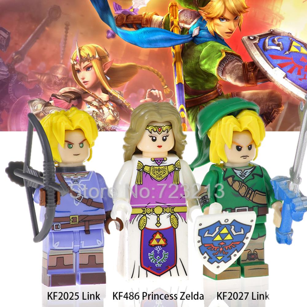 The Legend Of Figure Set Cartoon Game Princess Zelda Link Hyrule Warriors Building Blocks Models Bricks Toys For Children