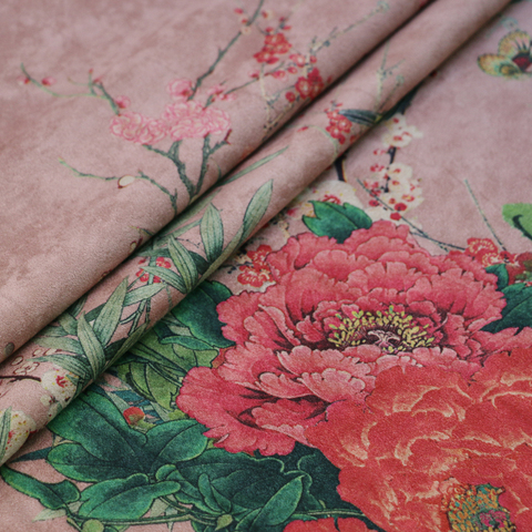 Moda Floral Cabolsa Jaqueta Terno Material Malha Camurça Scuba Tecido Design Medidor