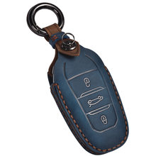 Cuero coche caso clave para Peugeot 308, 408, 508, 2008, 3008, 4008, 5008 Citroen C4 C4L C6 C3-XR accesorios clave Shell anillo