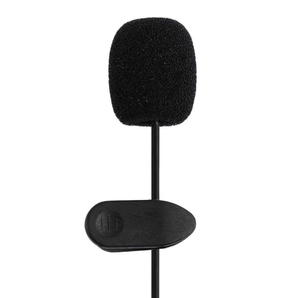 Portátil externo 3,5mm manos libres Mini Collar con cable Clip Lapel Lavalier micrófono para PC Laptop Lound Speaker