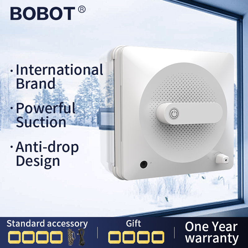 BOBOT Window Vacuum Cleaner Robot Window Robot Cleaner Window Glass Cleaning Electric Strong Suction image