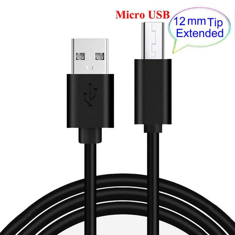 12mm USB Micro Cable largo de carga de enchufe de Cable de alambre para Blackview BV6000... BQ BQ-4077 tiburón Mini BQ-5003L tiburón Pro BQ BQ-5033 tiburón
