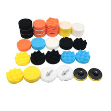 1 Set Buffing Pad Car Sponge Polishing Pad Kit Abrasive Polisher Drill Adapter Waxing Tools Accessory For Car Polisher
