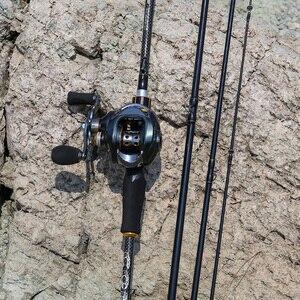 Image 5 - Sougayilang 1.8 متر 2.1 متر 2.4 متر صب الصيد قضبان مع 24 طن ألياف الكربون أحدث اعوج بكرة مقعد فائقة ضوء Pesca القطب