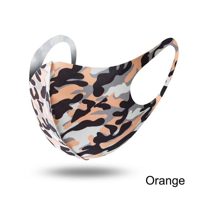 1PCS Unisex Washable Reusable Anti-dust Mouth Face Masks Camouflage Sponge Mask Anti Cold Mask Humanized Design 5