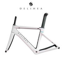 DeliHea Carbon Aero Road Frame Full New Design Series Fore White Bike Frame Matte Finishing Mostly EMS Free Shipping