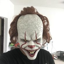 купить Halloween Stephen King's It Mask Pennywise Horror Clown Joker Mask Clown Mask Halloween Cosplay Costume Props # дешево