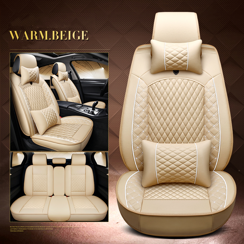 New PU Leather Luxury Interior Automotive Seat Covers for BMW 3 5 7 Series GT/X /F/E10 11 15 16 20 25 <font><b>30</b></font> seat Cover Universal image