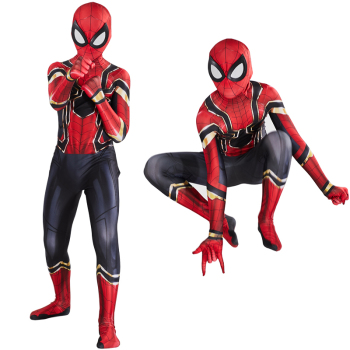 Adult Kids Spider Costume Zentai Suit Cosplay Iron Spiderboy Superhero Bodysuit Jumpsuit Halloween for Boys Man CW39A64 - discount item  42% OFF Costumes & Accessories