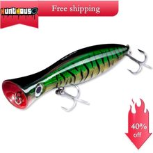 Hunthouse big game GT popper trolling hard lure 200/160/120mm for fishing bass topwater ABS bait fishing tackle with origin hook(China)