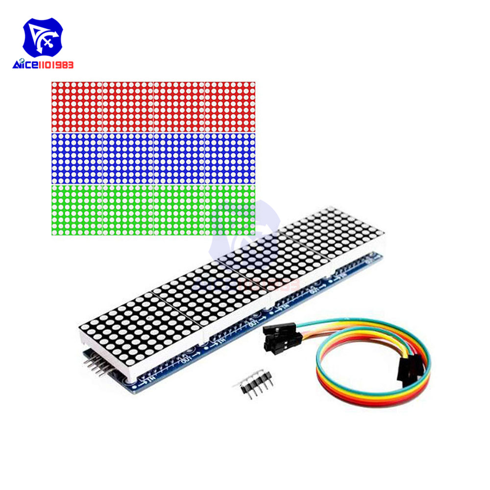Diymore 4 In 1 MAX7219 RGB Dot LED Matrix Common Anode MCU 8x32 Control LED Display Module Drive For Arduino Raspberry Pi