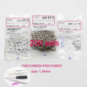 Image 2 - F00vc99002 diesel injector válvula kits de reparo aço bola f00vc05001 1.34mm kit de bola injector combustível para bosch erikc atacado
